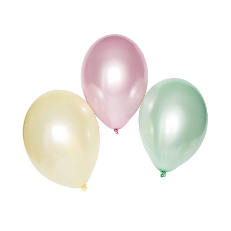 Globos color pastel para fiestas