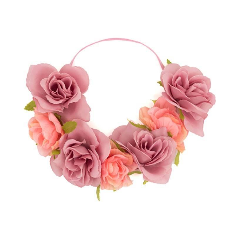 Diadema de flores artificiales para despedidas | Diademas hawaianas ...