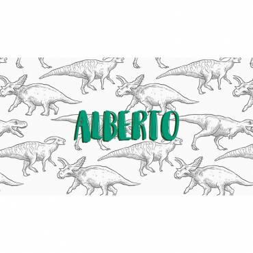 Invitación de cumpleaños  infantil dinosaurio- Parte delante