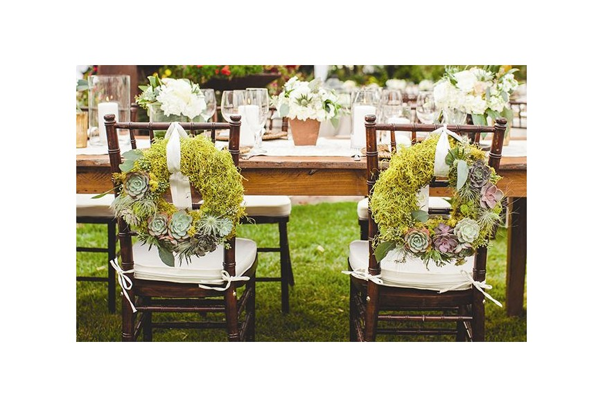 Súper ideas de decoraciones con musgo para tu boda